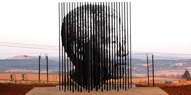 A sculpture of former South African President Nelson Mandela, is presented on August 4, 2012 in Howick, 90 kms South of Durba