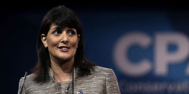 NATIONAL HARBOR, MD - MARCH 15:  South Carolina Governor Nikki Haley speaks during the second day of the 40th annual Conserva