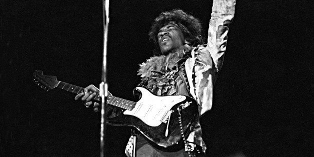 MONTEREY CA - JUNE 18: Jimi Hendrix performs onstage at the Monterey Pop Festival on June 18, 1967 in Monterey, California. (