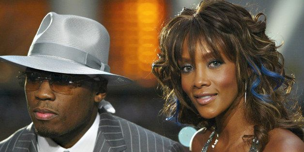 NEW YORK - AUGUST 28:  50 Cent and Vivica A. Fox during the pre-show interviews  on the MTV News Platform at the 2003 MTV Vid