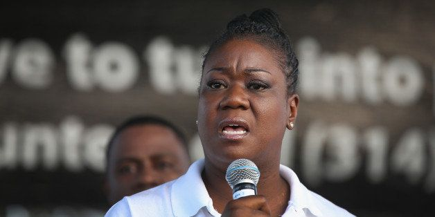ST. LOUIS, MO - AUGUST 24:  Sybrina Fulton, the mother of Trayvon Martin, speaks at Peace Fest in Forest Park on August 24, 2