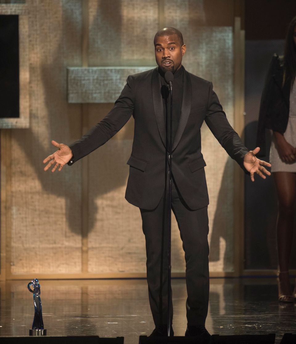 BET Honoree Kanye West accepts the Visonary Award at the BET Honors 2015 at Warner Theater on Saturday, Jan. 24, 2015in Washi