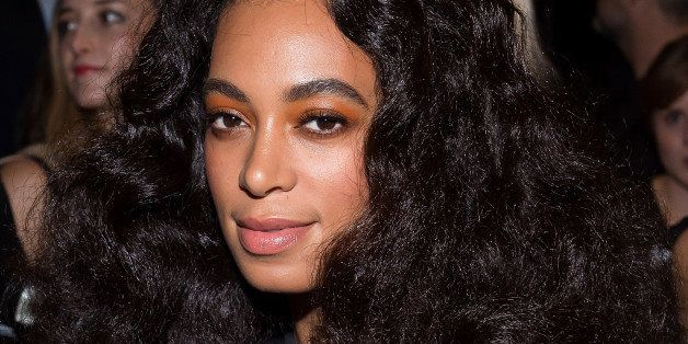 NEW YORK, NY - OCTOBER 16:  Singer Solange Knowles attends the Alexander Wang x H&M Collection Launch at the Armory on the Hu