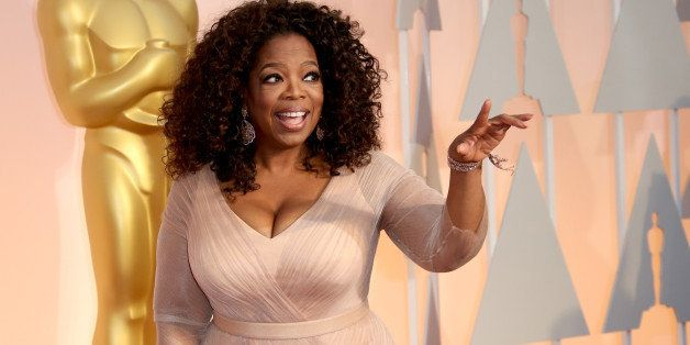 HOLLYWOOD, CA - FEBRUARY 22: Oprah Winfrey arrives at the 87th Annual Academy Awards at Hollywood & Highland Center on Februa