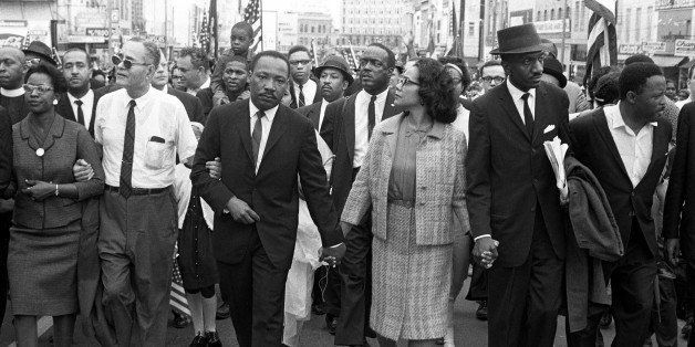 Dr. Martin Luther King, Jr. arrives in Montgomery, Alabama on March 25th 1965 at the culmination of the Selma to Montgomery M