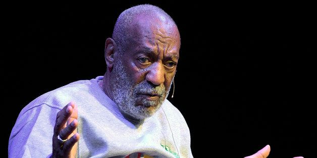 In this Nov. 21, 2014 photo, comedian Bill Cosby performs during a show at the Maxwell C. King Center for the Performing Arts