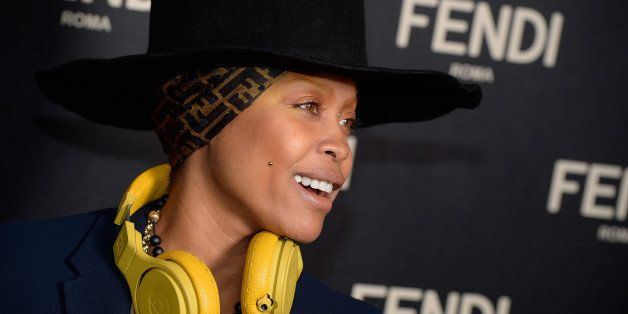 NEW YORK, NY - FEBRUARY 13:  Erykah Badu arrives at the Fendi New York Flagship Boutique Inauguration Party - Mercedes-Benz F