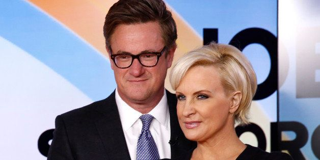 TODAY -- Pictured: (l-r) Joe Scarborough and Mika Brzezinski appear on NBC News' 'Today' show -- (Photo by: Peter Kramer/NBC/