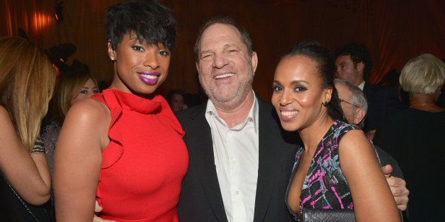 LOS ANGELES, CA - FEBRUARY 21:  (L-R)  Actress/recording artist Jennifer Hudson, Co-Chairman of The Weinstein Company Harvey