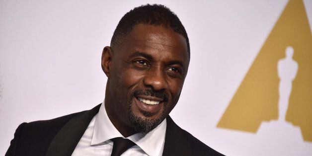 Idris Elba poses in the press room at the Oscars on Sunday, Feb. 22, 2015, at the Dolby Theatre in Los Angeles. (Photo by Jor