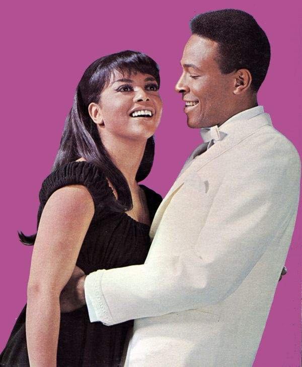 Photo of Marvin GAYE and Tammi TERRELL; Posed portrait of Tammi Terrell and Marvin Gaye  (Photo by GAB Archive/Redferns)