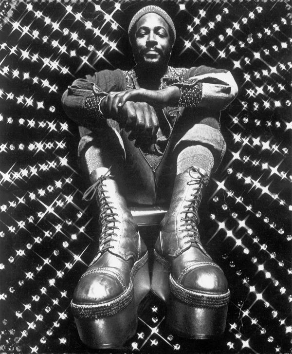 Soul singer and songwriter Marvin Gaye at Golden West Studios in 1973 in Los Angeles, California. (Photo by Jim Britt/Michael