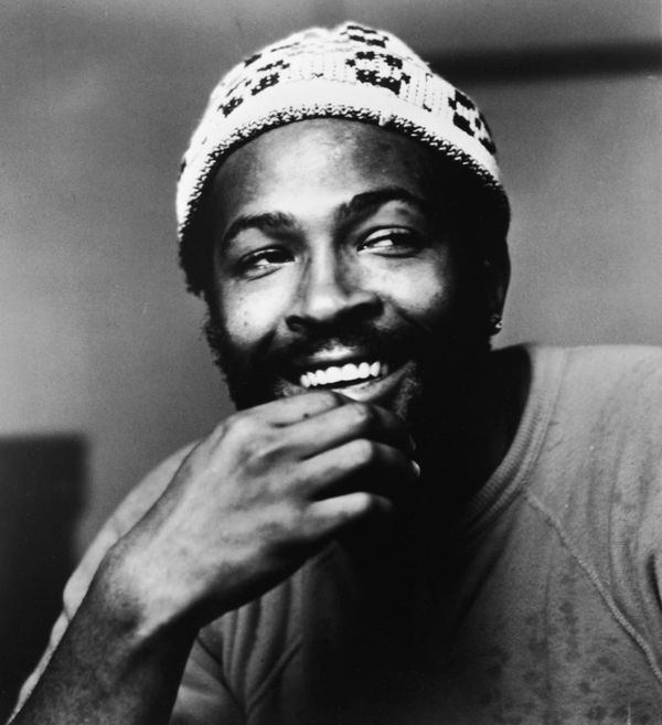 Headshot of American soul singer Marvin Gaye (1939 - 1984), wearing a knit cap, 1977. (Photo by Pictorial Parade/Getty Images