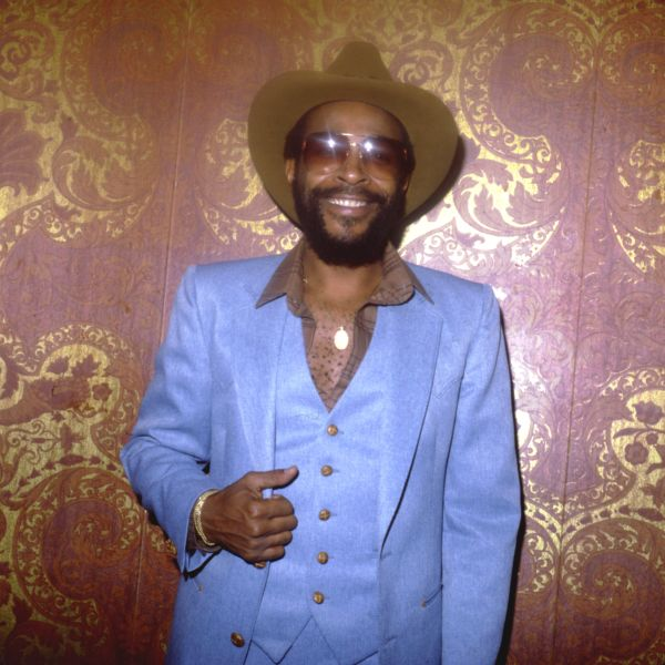 R&B singer Marvin Gaye poses for a portrait at an event on October 31, Halloween of circa 1977 in Los Angeles, California. (P