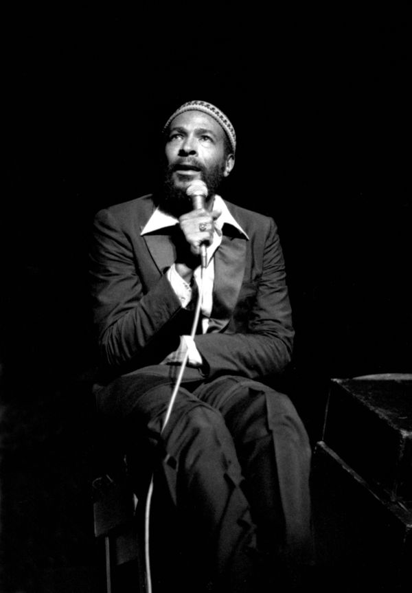 ROYAL ALBERT HALL  Photo of Marvin GAYE, Marvin Gaye at Royal Albert Hall, London 1979  (Photo by David Corio/Redferns)