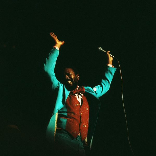 SEPTEMBER 01:  ROYAL ALBERT HALL  Photo of Marvin GAYE, Marvin Gaye perfoming on stage  (Photo by David Redfern/Redferns)