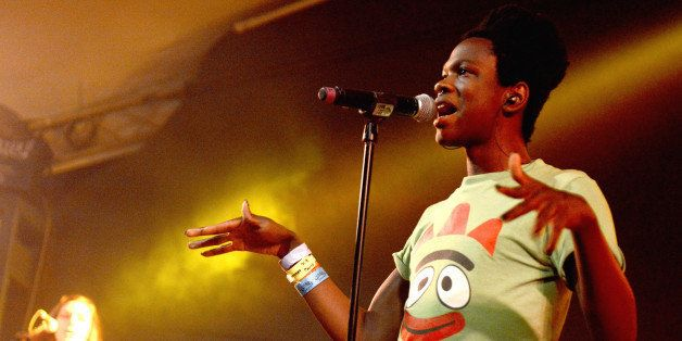 AUSTIN, TX - MARCH 18:  Shamir performs at the NPR Showcase at Stubbs Bar-B-Que on March 18, 2015 in Austin, Texas.  (Photo b