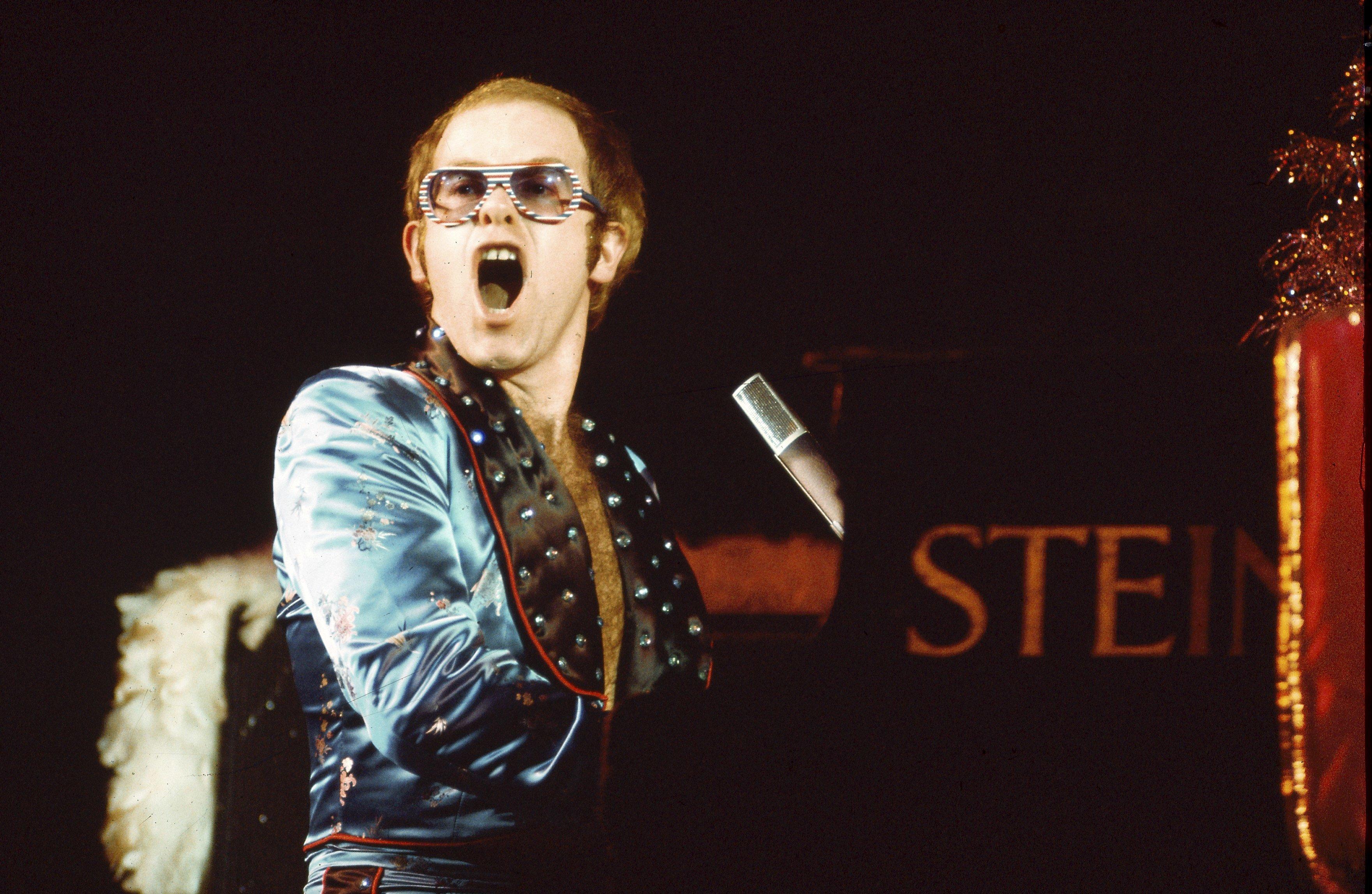 Elton john turns 60 barks out some birthday songs