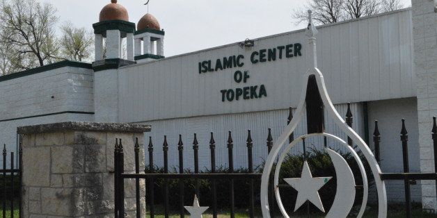 This Saturday, April 11, 2015 photo shows the Islamic Center of Topeka, Kan. Imam Omar Hazim says he was asked by the FBI to