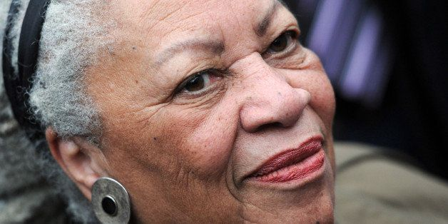 Nobel-winning US novelist Toni Morrison attends the unveiling ceremony of a memorial bench marking the abolition of slavery i