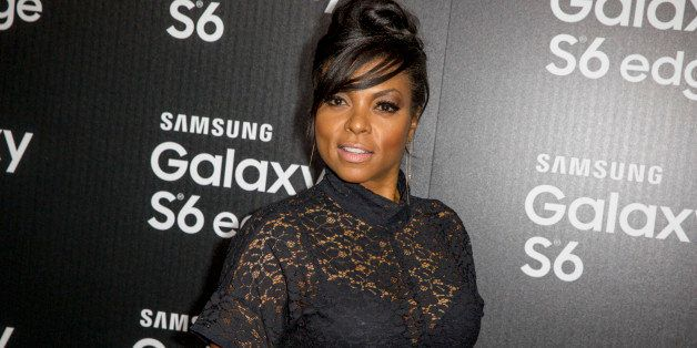 Taraji P. Henson arrives at the Launch Of The Samsung Galaxy S6 And The Galaxy S6 Edge at Quixote Studios on Thursday, April