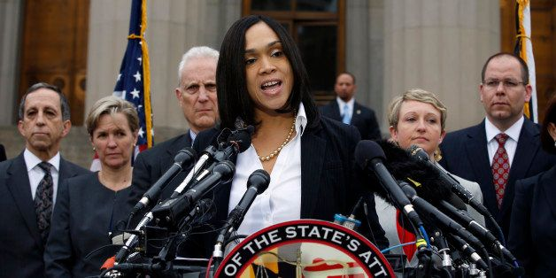 Marilyn Mosby, Baltimore state's attorney, speaks during a media availability, Friday, May 1, 2015 in Baltimore. Mosby announ