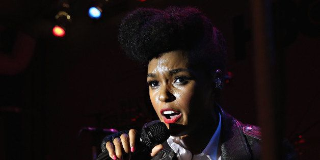 NEW YORK, NY - APRIL 30:  SingerJanelle Monae performs at the HBO Bessie 81 Tour at Stephan Weiss Studio on April 30, 2015 in