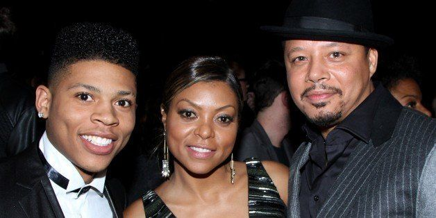 "Actors Bryshere Gray, Taraji P. Henson and Terrence Howard seen at LA Premiere Of ""Empire"" at Arclight Cinema Dome on Tuesday"