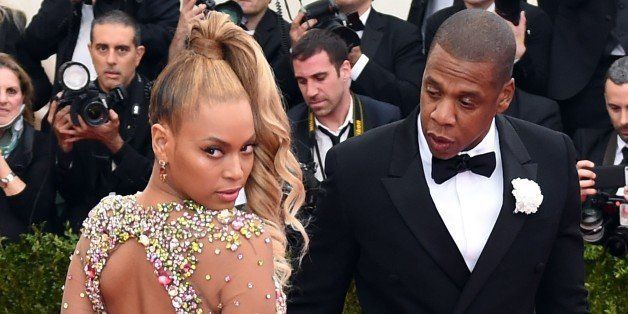 Beyonce and Jay Z arrive at the 2015  Metropolitan Museum of Art's Costume Institute Gala benefit in honor of the museums lat