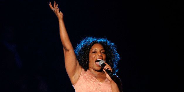 Stephanie Mills performs during the 2014 Soul Train Awards at Orleans Arena on Friday, Nov. 7, 2014, in Las Vegas. (Photo by