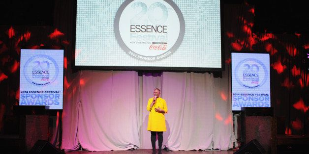 NEW YORK, NY - NOVEMBER 06:  ESSENCE magazine's Editor-in-Chief Vanessa K. De Luca speaks on stage at The ESSENCE 2015 Upfron