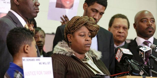 Samaria Rice, the mother of Tamir, a 12-year-old boy fatally shot by a Cleveland police officer, speaks during a news confere