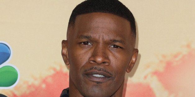 Jamie Foxx poses in the press room at the iHeartRadio Music Awards at The Shrine Auditorium on Sunday, March 29, 2015, in Los