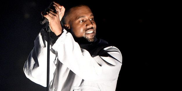 LOS ANGELES, CA - MAY 09:  Singer Kanye West performs during 102.7 KIIS FM's Wango Tango at StubHub Center on May 9, 2015 in