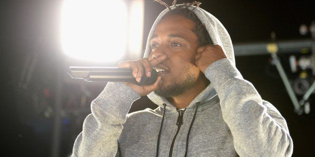 WEST HOLLYWOOD, CA - MARCH 24:  Recording artist Kendrick Lamar performs at #GETPUMPED live event. Reebok And Kendrick Lamar