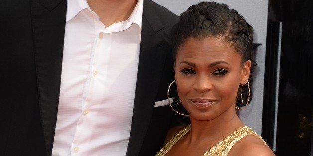 Actress Nia Long and former basketball player Ime Udoka arrive for the 2013 BET Awards at the Nokia Theatre L.A. Live in Los