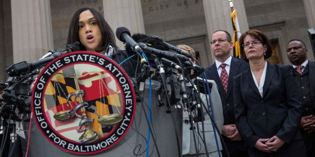 BALTIMORE, MD - MAY 01:  Baltimore City State's Attorney Marilyn J. Mosby announces that criminal charges will be filed again