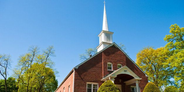 a local church building with a steeple
