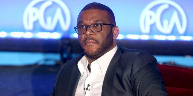 HOLLYWOOD, CA - MAY 31:  Chairman of The Tyler Perry Company Tyler Perry speaks at the 7th Annual Produced By Conference at P