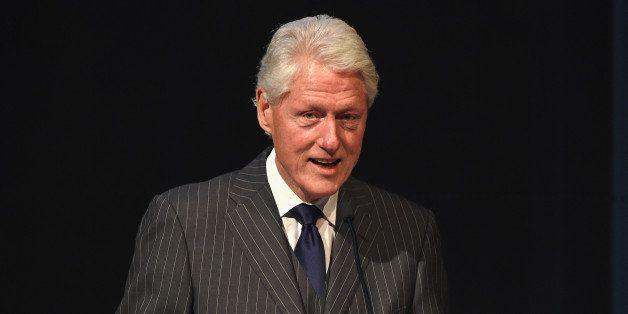 NEW YORK, NY - JUNE 03:  Former President Bill Clinton speaks during the Forbes' 2015 Philanthropy Summit Awards Dinner on Ju