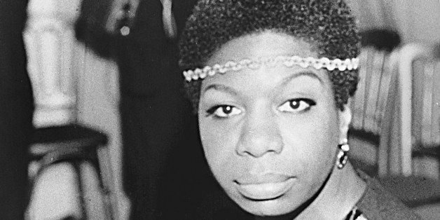 Jazz singer Nina Simone is shown in London on Dec. 5, 1968, photo.  Simone's deep, raspy, forceful voice made her a unique fi