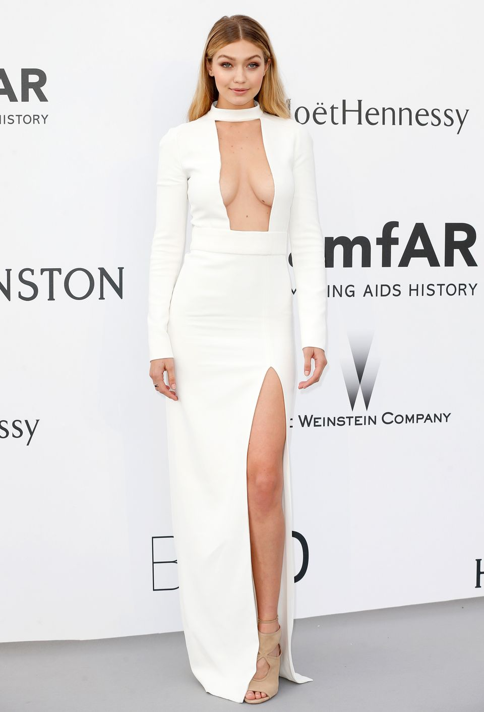 CAP D'ANTIBES, FRANCE - MAY 21:  Model Gigi Hadid attends amfAR's 22nd Cinema Against AIDS Gala, Presented By Bold Films And
