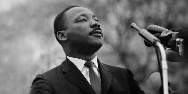MONTGOMERY, AL - MARCH 25:  Dr. Martin Luther King, Jr. speaking before crowd of 25,000 Selma To Montgomery, Alabama civil ri