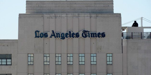 LOS ANGELES, CA - JUNE 07: The Los Angeles Times building is seen on June 7, 2012 in Los Angeles, California. A U.S. Bankrupt