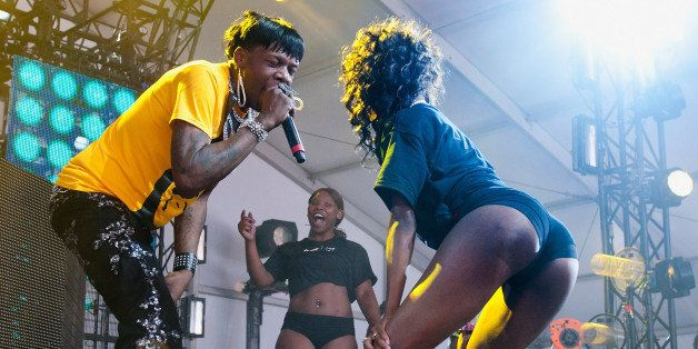 GULF SHORES, AL - MAY 20:  New Orleans bounce artist Big Freedia performs during the 2012 Hangout Music Festival on May 20, 2