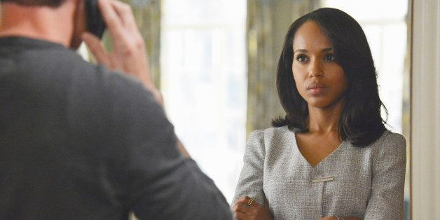"This publicity image released by ABC shows Kerry Washington is in scene from ""Scandal."" Washington was nominated for an Emmy"