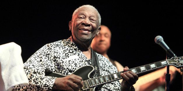 Blues music legend BB King performs on Frampton's Guitar Circus 2013 Tour at Pier Six Pavilion on Thursday, Aug. 8, 2013, in