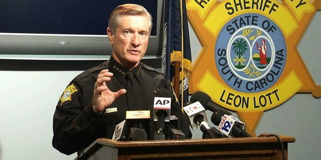 In this image taken from video, Richland County Sheriff Leon Lott speaks during a press conference in Columbia, S.C., Tuesday