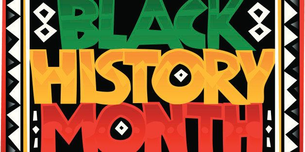Heading, Black History Month, zigzag border, Color