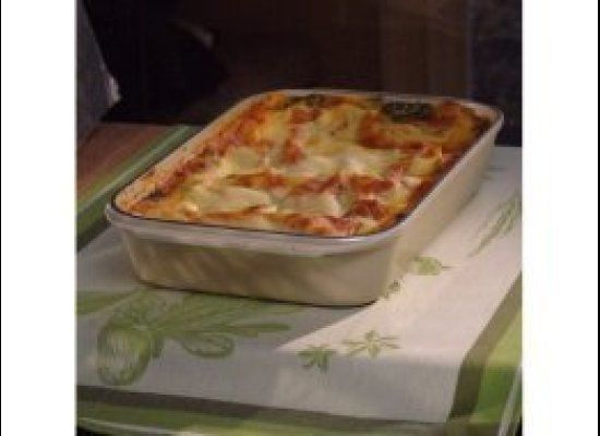 """""""The veggie lasagna is great since it sneaks in lots of vegetables and is large enough to feed your family with leftovers for"""
